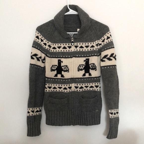 ARITZIA TNA Sea to Sky Sweater, Eagle Grey S